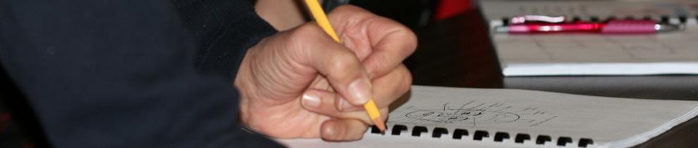 Hand writing natural health notes